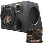 Caixa Trio Bravox Premium + Módulo Amplificador SD250.2D