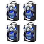 Caixas de Som Bluetooth Amplificada Portátil - Kit com 4un