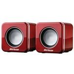 Caixas de Som Mini Sp104 4w Rms Multilaser Vermelha
