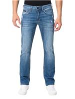 Calça Azul Médio Calvin Klein Jeans Five Pockets Slim Straight - 50