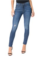 Calça Calvin Klein Jeans 5 Pockets Jegging High Azul Médio - 40