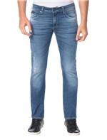 Calça Calvin Klein Jeans Five Pockets Slim Straight Azul Marinho - 50
