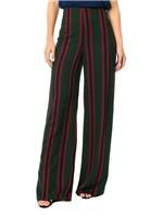 Calça Calvin Klein Listrada Pantalona Musgo - 38