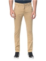 Calça Color Chino Slim Caqui Claro Calça Color Chino Slim - Caqui Claro - 38