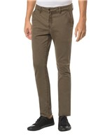 Calça Color Chino Slim - Oliva - 36