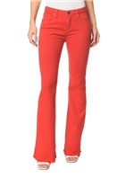 Calça Color Five Pockets Mid Rise Flare - 36