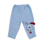 Calça de Plush Azul Bordado de Cachorro P