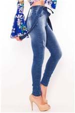 Calça Feminina Jeans com Suspensório CL0504 - Kam Bess