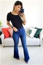 Calça Flare Cantão Jeans Comfort Reserva Stone - Azul