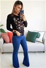 Calça Flare Farm Jeans Média - Azul