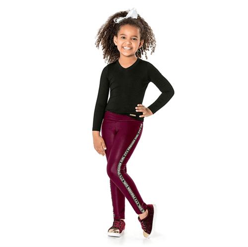 Calça Infantil Cata-Vento Fashion Girl Bordô 04