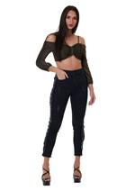 Calça Jeans Black Skinny Detalhe Escrita