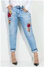 Calca Jeans Boyfriend com Bordados CL0511 - Kam Bess