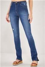 Calça Jeans Cantão I Bootcut Fenda Comfort - Azul