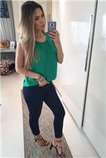 Calça Jeans Colcci com Dobra Bia Indigo - Azul