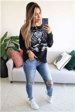 Calça Jeans Colcci Fatima Detalhe Joelho e Barra Desfiada - Azul