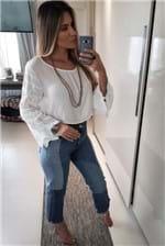 Calça Jeans Colcci Kiki com Recortes Indigo - Jeans