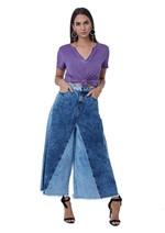 Calça Jeans Composição de Tecidos