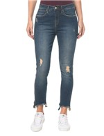 Calça Jeans Five Pock High Rise Skinny - Azul Marinho - 34
