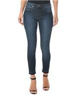 Calça Jeans Five Pocket Mid Rise Skinny Marinho CALÇA JEANS FIVE POCKETS MID RISE SKINNY - MARINHO - 34