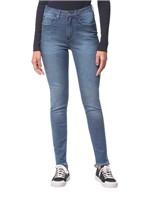 Calça Jeans Five Pockets Ckj 020 High Rise Slim - Azul Médio - 34