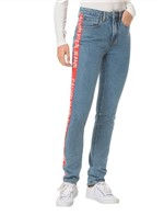 Calça Jeans Five Pockets Ckj 020 High Rise Slim - Azul Médio Calça Jeans Five Pocktes High Rise Slim Ckj 020 High Rise Slim - Azul Médio - 34