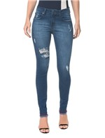 Calça Jeans Five Pockets Ckj 001 Super Skinny - Marinho - 34
