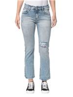 Calça Jeans Five Pockets Ckj 031 Mid Rise Straight - Azul Claro - 34