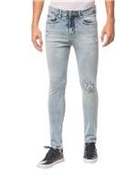 Calça Jeans Five Pockets Ckj 016 Skinny - Azul Claro - 48