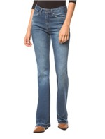 Calça Jeans Five Pockets Ckj 041 Mid Rise Flare - Azul Médio - 36