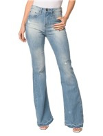 Calça Jeans Five Pockets High Rise Flare - 36