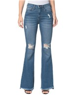 Calça Jeans Five Pockets Jeans Ckj 040 High Rise Flare - Azul Claro Calça Jeans Five Pockets High Rise Flare - Azul Claro - 34
