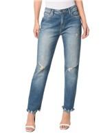 Calça Jeans Five Pockets Mid Rise Boy - 34