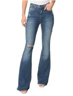 Calça Jeans Five Pockets Mid Rise Flare - 40