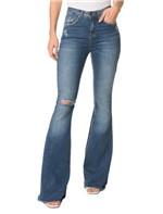 Calça Jeans Five Pockets Mid Rise Flare - 40