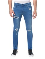 Calça Jeans Five Pockets Skinny - Azul Royal - 46