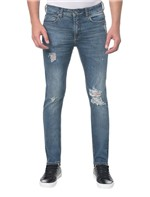 Calça Jeans Five Pockets Slim - Azul Claro - 36