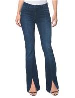 Calça Jeans Five Pockets Slim Flare - Marinho - 36