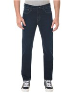 Calça Jeans Five Pockets Slim Straight Marinho CALÇA JEANS FIVE POCKETS SLIM STRAIGHT - MARINHO - 36