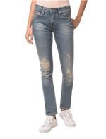 Calça Jeans Five Pocktes Mid Rise Slim CKJ 021 Mid Rise Slim - Azul Claro - 34