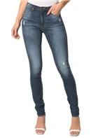 Calça Jeans Five Pocktes Mid Rise Slim CKJ 021 Mid Rise Slim - Azul Médio - 38