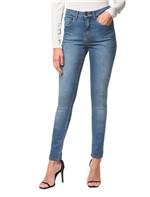 Calça Jeans Five Pockts Jegging - Azul Médio - 36