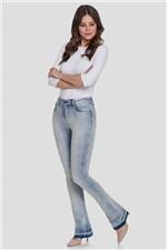 Calça Jeans Lunender Bootcut Chapa Barriga Azul Claro Tam. 36