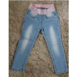 Calça Jeans Pituchinhus Elástico Rosa