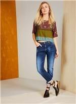 Calça Jeans Reta Cintura Média Comfort JEANS 44