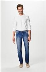 Calça Jeans Reta Estonada Malwee Azul Claro - 54