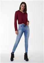 Calça Jeans Skinny Barra Desfeita