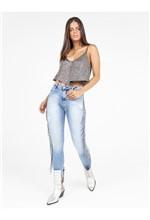 Calça Jeans Skinny Bordado Franja - 36
