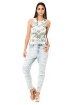 Calça Jeans Sky C/ Rasgos - Sem Transfer Unica 38