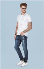 Calça Jeans Slim Puídos Enfim Azul - 40